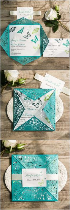 Romantic butterfly wedding invitations that will make your heart skip a beat.