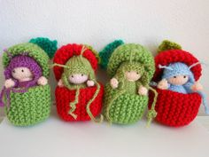 Items similar to Knitted Fairy 'Baby Apple Seed Fairies. on Etsy - Knitted Fairy 'Baby Apple Seed Fairies' by CarriesCupboard on Etsy - Knitted Doll Patterns, Knitted Dolls, Crochet Toys, Knitting Patterns, Crochet Patterns, Baby Apple, Fairy Coloring, Plush Pattern, Free Pattern