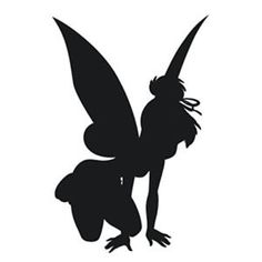 Tinkerbell-Fairy-Kneeling-silhouette-cutout-Wall-Stickers-Car-Decals-12cm