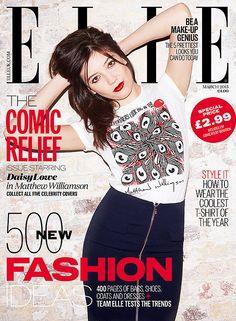 Daisy Lowe for Elle UK March 2015