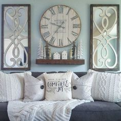 wall clock decor living room 77546424821292304 - tall living room wall decor Source by Cute Dorm Rooms, Cool Rooms, Living Room Designs, Living Room Decor, Living Walls, Muebles Shabby Chic, Unique Wall Decor, Tall Wall Decor, Window Wall Decor