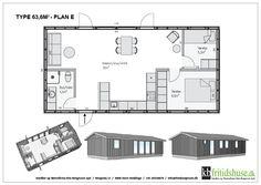 Forskellige hustyper og planløsninger - KB Fritidshuse måske også denne