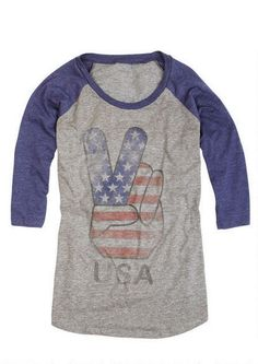 Peace USA Raglan - View All Tops - Tops - Clothing - dELiA*s