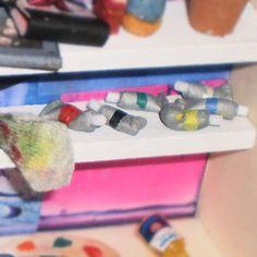 Tutorial - Tubos óleo en miniatura mini tubes of paint made from fimo!