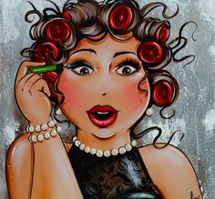 Round Drill Modern Home Decoration Diy Diamond Painting Cartoon Fat Lady Needlework Full Woman Painting, Diy Painting, Shadow Painting, Plus Size Art, Isabelle, Fat Women, 5d Diamond Painting, Diamond Art, Quality Diamonds