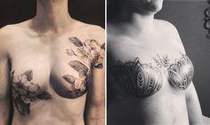 Projeto cria tatuagens incríveis para sobreviventes de câncer de mama Hair Tattoos, Time Tattoos, Sexy Tattoos, Body Art Tattoos, Tattoo Drawings, Tattoos For Women, Cool Tattoos, Tatoos, Female Tattoos