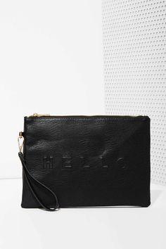Hello Goodbye Vegan Leather Clutch | Shop Bags + Backpacks at Nasty Gal