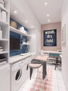 It takes a lot of creativity and practical thinking to come up with the best laundry room design. Fortunately, we're here to show you how to design a laundry room that can be cozy and practical. #LaundryRoomDesign #LaundryRoomIdeas #InteriorDesign