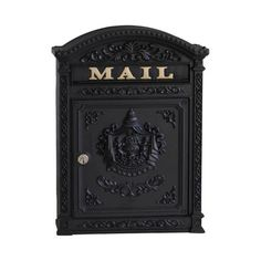 The ecco is a stately Victorian style aluminum mailbox, accentuated by classical motifs that are reminiscent of old world charm and decorum. Ideal for traditional settings, the features crisp and bo Victorian Mailboxes, Antique Mailbox, Vintage Mailbox, Wall Mount Mailbox, Mounted Mailbox, Birch Lane, Mailboxes For Sale, Residential Mailboxes, Black Mailbox