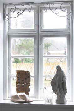 Jeanne d'Arc Living Fenster Fries Fensterfries vintage shabby chic metall weiß  in Möbel & Wohnen, Rollos, Gardinen & Vorhänge, Gardinen & Vorhänge   eBay