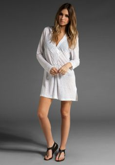 3985a30cfe Joie A La Plage Andy Soutuache Hooded Tunic in White (porcelain) - Lyst  White