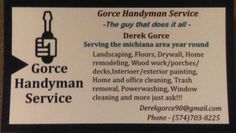 Gorce #Handyman #Service Other Businesses - #Elkhart, IN at #Geebo