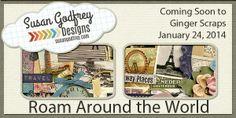 Roam Around the World Sneak Peek & Giveaway - Susan Godfrey Designs