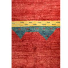 "I pinned this Gabbeh 5'6"" x 7'10"" Rug in Red from the Bashian event at Joss & Main!"