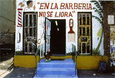 En la Barberia no se Llora (No Crying Allowed in the Barbershop). Pepon Osorio. 1994 C.E. Mixed media installation.