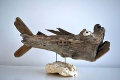 Mokbaai Texel / Driftwood fish at Dijkstijl.com
