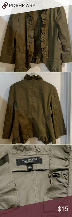 Blazer Talbot's-the Grace ruffled career blazer Jackets & Coats Blazers