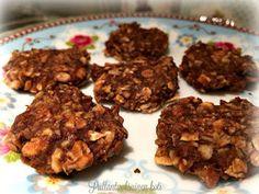 Terveelliset Banaani-suklaakeksit Oat Cookies, Stevia, Almond, Cereal, Gluten, Banana, Beef, Chocolate, Breakfast