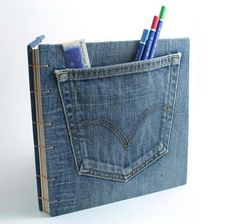 Blue Levis Jeans Book | Book Arts and Book Binding | Scoop.it Great for large print scriptures!
