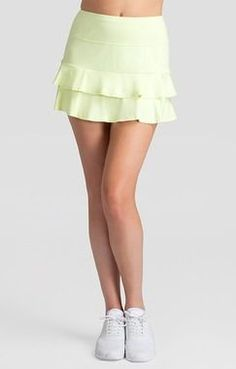 """Tail Ladies & Plus Size Doubles 13.5"""" Tennis Skorts - Spring Blooms (Daffodil)"""