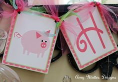 Little Pink Pig Birthday Banner -   www.chocolatesundae.etsy.com
