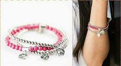 Pink and Silver bracelet ❤ Solasta Jewels- Paparazzi by Megan