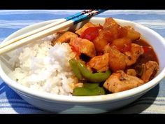 Ana's Food - Homemade Sweet and Sour Chicken Stirfry - YouTube