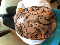 100% organic henna crown body art by Hennali: Art by Carli