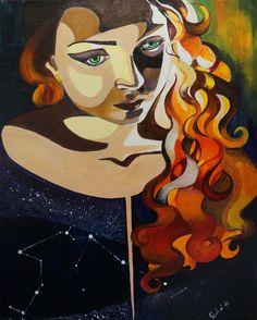 Aquarius  Acrylic on canvas