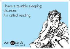 Sleeping disorder: Reading
