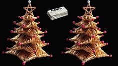 How to make Table top Christmas Tree from Newspaper   DIY Christmas Crafts