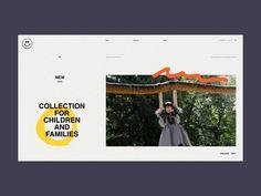 1996 Fan Time Store Homepage Animation by Zhenya Rynzhuk for Sochnik Website Design Layout, Homepage Design, Web Ui Design, Web Design Trends, Website Design Inspiration, Web Layout, Graphic Design Branding, Layout Design, Minimal Web Design