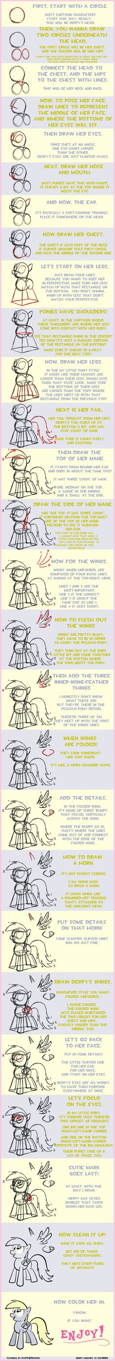 How to draw Derpy by KaiThePhaux.deviantart.com on @deviantART