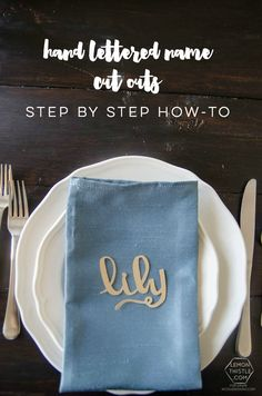 DIY hand lettered name cut outs- a step by step tutorial... so cool!   Lemon Thistle Blog for DawnNicoleDesigns.com