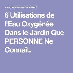 6 Utilisations de l'Eau Oxygénée Dans le Jardin Que PERSONNE Ne Connaît.
