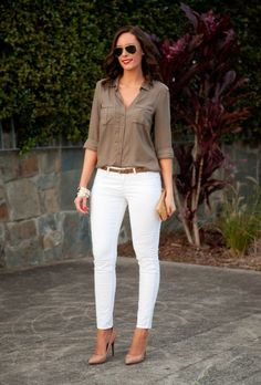 39 Simple Work Outfits To Look Flawless 😅 39 Simple Work Outfits To Look Flawless – Trendy Fashion Ideas. Simple Work Outfits, Cute Spring Outfits, Mode Outfits, Stylish Outfits, Fashion Outfits, Fashion Ideas, Look Fashion, Trendy Fashion, White Pants Outfit