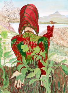 Available paintings, watercolours and artwork by Irish Artist Pauline Bewick Irish Art, Red Hats, Watercolor, Sculpture, Contemporary, Painting Art, Paintings, Illustration, Artwork