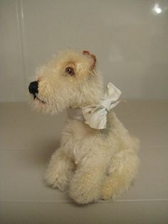 In my ETSY Shop: Steiff RARE Vintage Sitting Foxy Fox Terrier ~ EAN 3310 ~ 1953 to 1954 Only