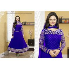 Rashmi desai Exclusive Royal Blue Designer Salwar Kamtgeez