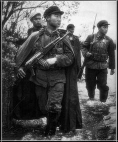 Chinese Infantry on Patrol during Sino-Soviet Border War by  Unknown Artist
