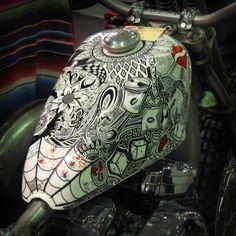 Nice paint job #custombike