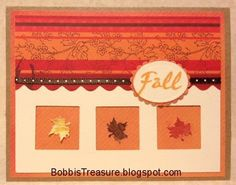 Bobbi's Treasure: Use a Punch (an old one?) Maple leaf fall window  card