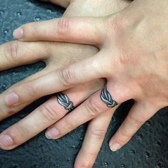 30 Unique Wedding Ring Finger Tattoos - - My list of the most cre. - 30 Unique Wedding Ring Finger Tattoos – – My list of the most creative tattoo mo - Finger Tattoos, Band Tattoos, Couple Tattoos, Tattoos For Guys, Tattoo Ring Finger, Couples Ring Tattoos, Wedding Ring Finger, Titanium Wedding Rings, Wedding Band Tattoo