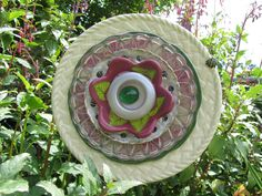 Glass Plate Art Fantasy Flowers for the Yard