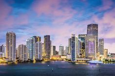 Photo about Skyline of Miami, Florida, USA at Brickell Key and Miami River. Image of panoramic, downtown, dade - 36645779 Downtown Miami, Miami Florida, South Florida, Miami Skyline, New York Skyline, Places To Rent, Places To Visit, Brickell Miami, Camping Car