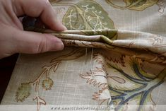How To Make Double-Width Lined Pinch-Pleated Draperies – Part 2