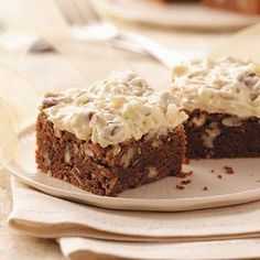 Coconut-Pecan Brownies Recipe | Taste of Home Recipes