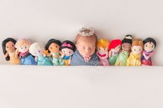 Disney Princess Newborn Photo Session | Walt Disney World Photographer | Cleveland Ohio Newborn Photographer