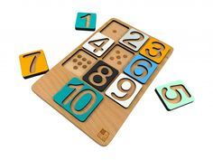 var čísla. Nepriamym cieľom je príprava na písanie jednotlivých číslic. Pomocou týchto puzzle dieťa lepšie chápe predstavu čísla v numerickej podobe. Slúži teda aj na precvičovanie znalosti čísiel v kombinácii s množstvom. Montessori