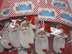 Polymer Clay Long Beard Santa Claus Ornament by ClayBabiesInc, $14.95